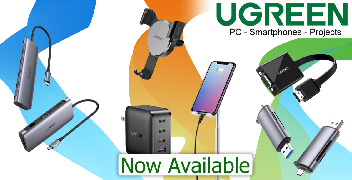 An image of the three categories of UGREEN